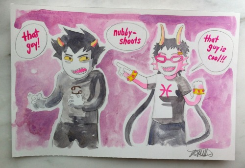 Commission: Meenah and Nubbyshouts. I will never get tired of this scene.