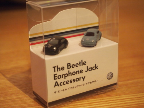 fenomenojyosuke:  The beetle Earphone Jack Accessory.