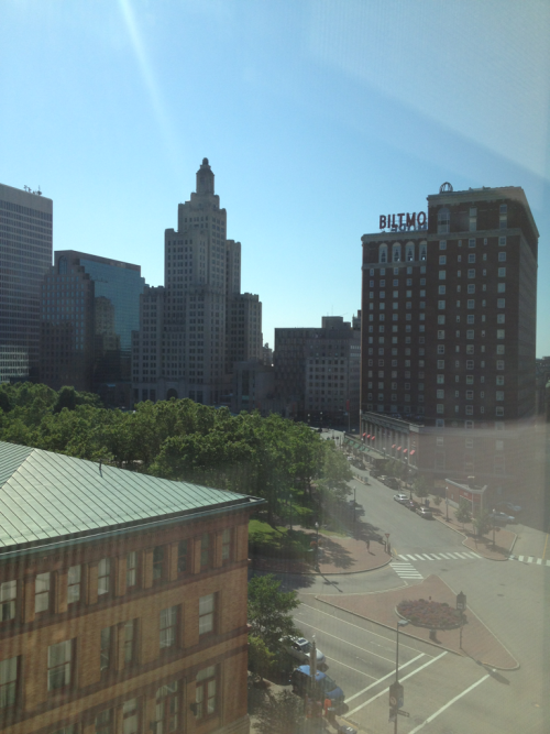 View from my hotel room window as I prepare to leave Providence.