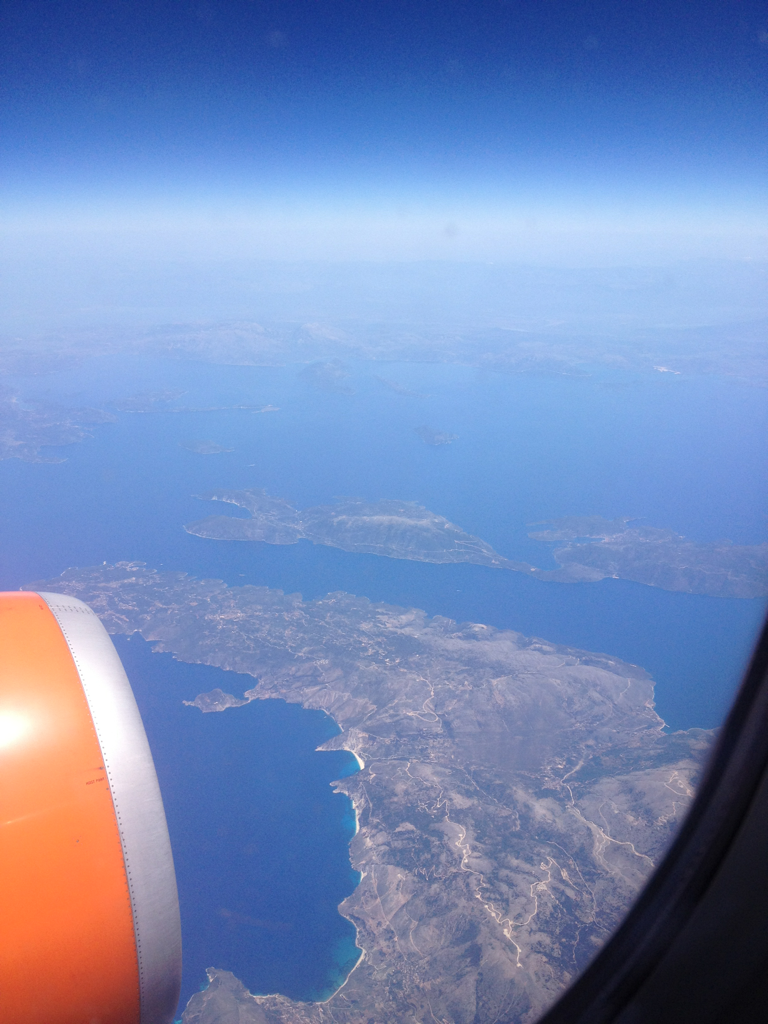 thee-a-word:  Greece from the air. AND, more importantly, our last EasyJet flight of the trip. These people are the devil. Cheap tickets… But you def get what you pay for.  I'm reblogging myself for several reasons: 1. June of last year I went to Europe with 2 of my siblings. Now that summer is heating up in PA, I am constantly thinking about my hot and humid adventures in Italy, Greece and Spain. 2. I'm ready to go back. 3. I'm feeling lazy. 4. I'm in a constant state of nostalgia.