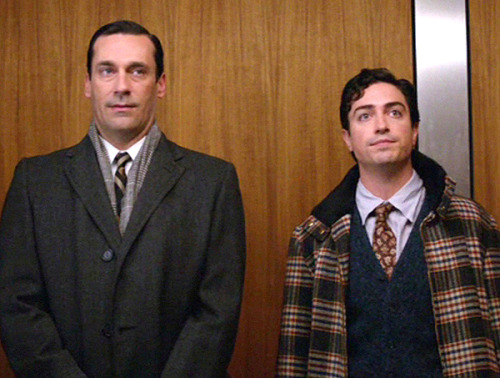 25 THINGS ABOUT MAD MEN, SEASON 5 Michael GinsbergThe introduction of this prudish, sensitive, highly religious, immensely talented, and incredibly interesting character is a strong mark on season five. Ginsberg is a new and potentially threatening addition to SCDP. I like him. He keeps everyone on their toes.