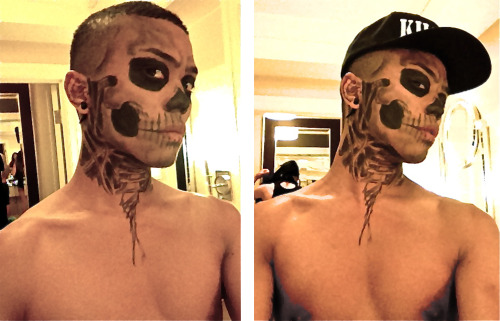 Yoan turned me into Rick Genest for day 2 :]
