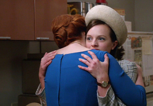 25 THINGS ABOUT MAD MEN, SEASON 5 Joan Tells Peggy that She's BraveThe Peggy/Joan relationship has been strained since the beginning. Here it reaches a tender moment where both women are at a vulnerable point in their lives. It's sweet and refreshing.
