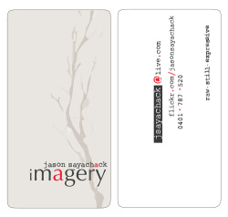 Jason Sayachack ImageryBusiness card/visual identity design