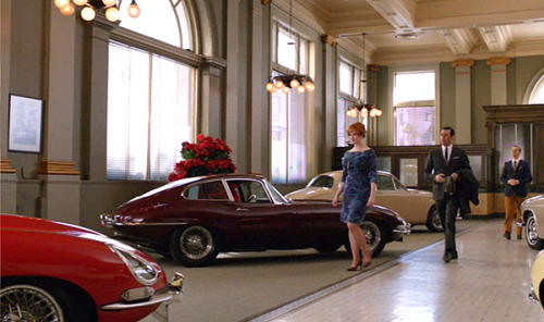 25 THINGS ABOUT MAD MEN, SEASON 5 Don and Joan Go Car ShoppingBranching off of the subpoena incident, I loved what happened next. Trying to comfort Joan, Don brings her along to select a very expensive car. It's the sweetest thing. Joan gets to act like the privileged wives she's always seen passing so luxuriously through the halls of Sterling Cooper.