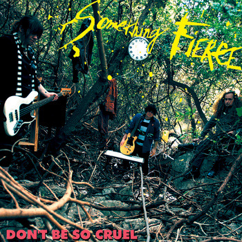REVIEW: SOMETHING FIERCE - DON'T BE SO CRUEL CD (Dirtnap, Portland) If Ken Dirtnap had any morals at all, this album would be packaged with a phone number for addictions counselling.  But, he obviously doesn't, so here I am reviewing a record I've slavishly listened to maybe 1023 times now; and running the risk of getting who-knows-how-many until-now productive members of society hopelessly hooked.  SOMETHING FIERCE offers up slick, well-written, well-produced, well-played powerpop like THE MARKED MEN et al but with some VERY serious CLASH overtones.  So much so that I hear the CLASH way more than any of SF's powerpop contemporaries.  From 'Police & Thieves' to the more accessible stuff on THE CLASH's weirder albums, like 'Street Parade' or 'Police On My Back' off Sandinista, this album sounds like THE CLASH's ghost possessing a modern-day powerpop band.  Those throbbing basslines, the slashed guitar flourishes, those snappy drums, the airy-but-urgent vocals, the occasional skank — it all adds up to the best of THE CLASH, and the result's an album full of songs that'll have you doing that chin-stab/shoulder-jerk dance Paul Simonon did while playing his bass.  Hey — Did a lot of DILLINGER 4's songs sound like that 'O.K.F.M.D.O.A.' track they did?  If they did, then these guys kinda sound like DILLINGER 4 too.  If they didn't, disregard.  SOMETHING FIERCE knows how to sink the claws in, so look out.  The melodies, the hooks, the harmonies… it's all one shiny trap.  You've been warned.  Don't stumble in blindly like some dumbass looking to get his leg snared. NOT SHITTY  A review of the album's artwork: It's a photo of the band with their instruments in some insanely tangled woods.  I dunno.  I'm not a big fan of any band shots that aren't live.  This one's not terrible, but I'm not exactly losing my mind over here.  I could be a nice guy and let it pass with a NOT SHITTY rating, but Ken Dirtnap's gotta pay SOMEHOW for getting me hooked on this.  KINDA SHITTY  - BEN JENSEN