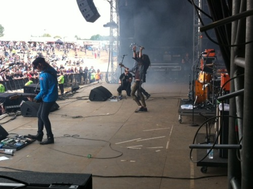 Side stage view of Rival Sons Download fest