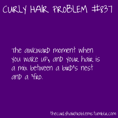 "witchsistah:  thecurlyhairproblems:  submitted by Anonymous :)  I really need WW to stop equating shitty hair to an Afro.  My Afro is not shitty nor is it a bird's nest or in any way unkempt. My hair as it grows out of my head is not a disaster or a fashion ""don't.""  For real. STOP IT!"