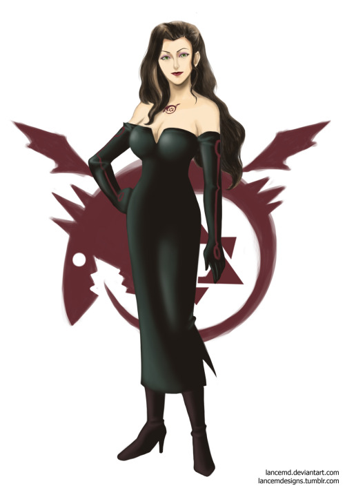 lancemdesigns:  Lustsami. Asami as Full Metal Alchemist's Lust.