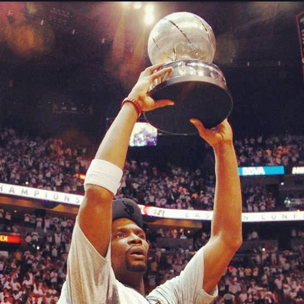 Chris Bosh and #Miami #Heat advance to #2012 #NBA Finals (Taken with Instagram)