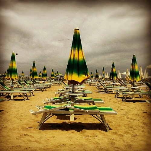 Beach day in Rimini #rimini #italy #travel (Taken with Instagram at Bagno 44 Pino)