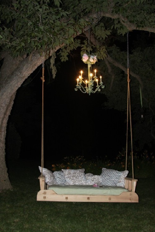 bluepueblo:  Chandelier Tree Swing, France photo via disfuncional