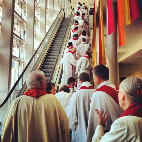 #Clergy ascending a staircase #nesassembly #ELCA  (Taken with Instagram)