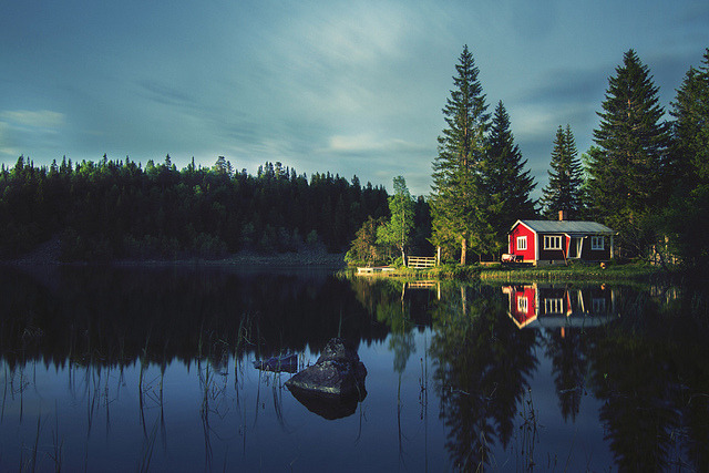 thephantomgate:  The cabin by Mathijs Delva on Flickr.