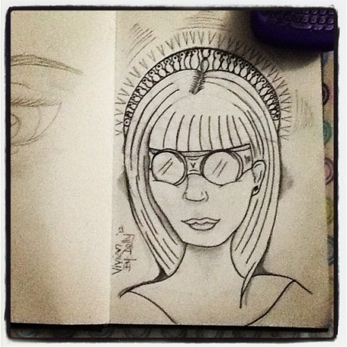 Lines with prismacolor premier illustration markers #illustration #sketches#villains#profile  (Taken with Instagram)