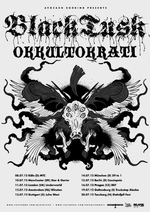 cowsandbeer:  Catch Okkultokrati round Europe w/Black Tusk this summer, the new material rips.  This is my summer vacation! I'm going on tour all over Europe with my friends in Okkultokrati. CAN'T WAIT. And yes, come to the shows.