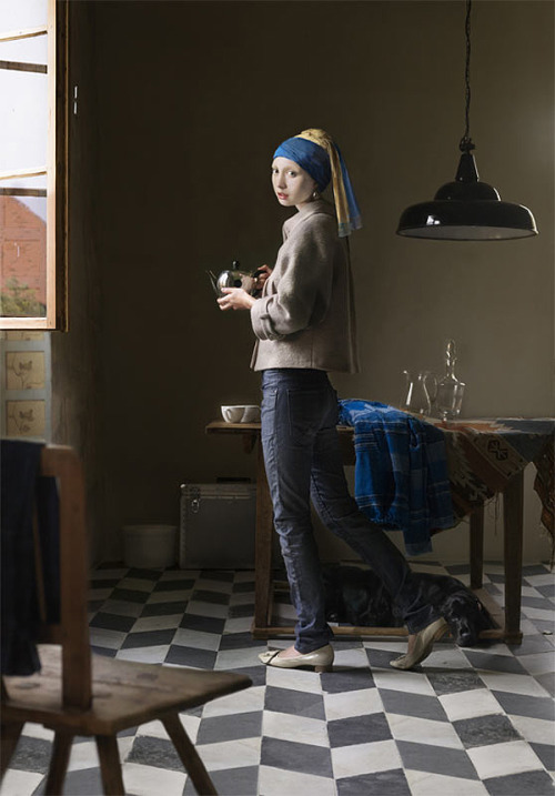 rustybreak:  Dorothee GolzFamous faces from art history are given a modern body and context.