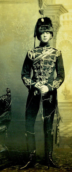 mydaguerreotypeboyfriend:  Winston Churchill in his officer's uniform, age 21, 1895. Oh and we have much more from the world of dashing officer uniforms: Grand Dukes Sergei and Pavel of Russia, c. 1870 Henry Ossain Flipper, c. 1877 Vasil Levski, 1867. Submitted by E. Crowell