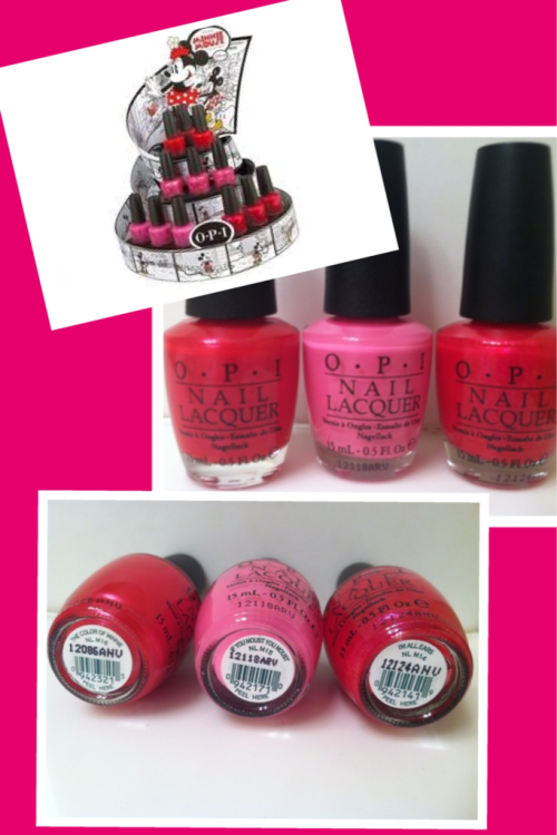 New Minnie Mouse collection from OPI! I've gotten 3 of the 4 colors. You can find them wherever OPI is sold