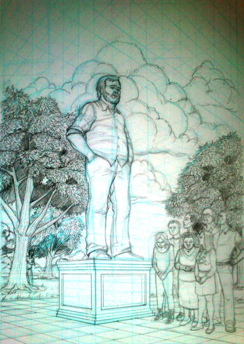 craigashforth:  Pencils for my latest Community fan art.  I'll still do it comic style but i'll do the logo separately and add it in photoshop.  Inspired by the end of season 3.