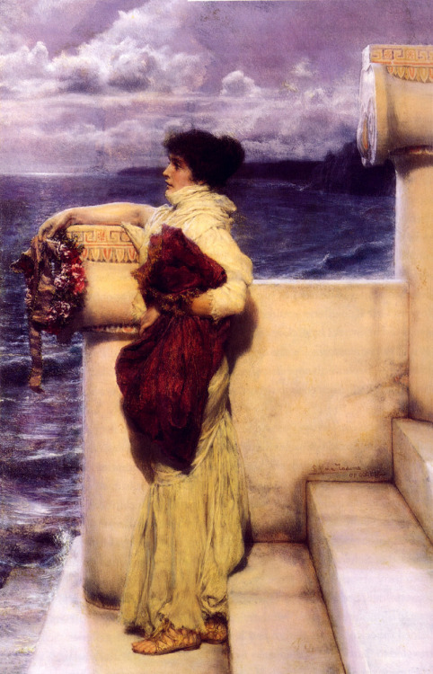 """Hero"" by Sir Lawrence Alma-Tadema (1898)."