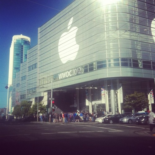 Already messing up traffic #wwdc #apple (Taken with Instagram at Moscone West)
