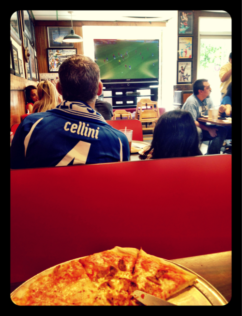 Sunday= pizza and soccer at IP3