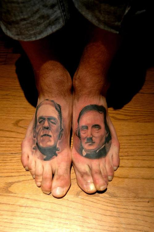 fuckyeahtattoos:  Frank. Poe. Done by Charles-Étienne Saucier  Oh i want this