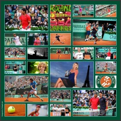 Sports Photo Collage. French Open collage. Pictures Courtesy of French Open.