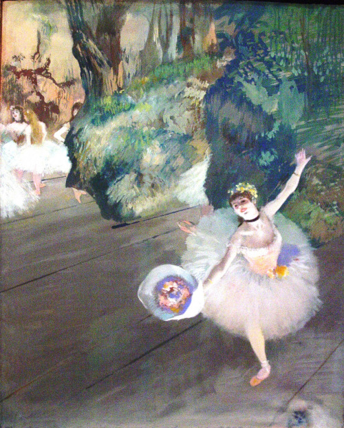 fuckyeahimpressionism:  Edgar Degas - Dancer Taking a Bow (1877)