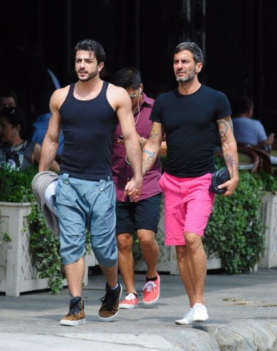designer Marc Jacobs and boyfriend Harry Louis out in the West Village, NYC yesterday…