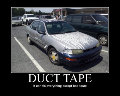 Follow this tumblr for awesomeness and reply with some other duct tape stuff!