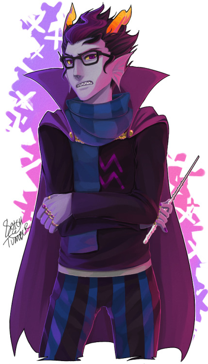Eridan Ampora - Obviously not as great as previously, but hey, I finished! He looks so sasssy on this. Calmasis | Aranea | Meenah Feferi