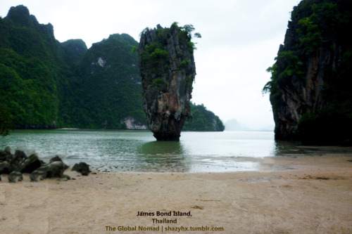 "James Bond Island, one of the famous tourist attractions in Thailand. It's original and local name is Koh Tapu (Nail Island) due to the 20m tall island and is part of the Ao Phang Nga National Park. It became famous after the James Bond movie ""The Man With The Golden Gun"" in 1974, with Roger Moore and Christopher Lee.It is an interesting place and the coast of Phang Nga is recovering from the 2004 Tsunami which destroyed the place in drastic ways. I enjoyed a tour from Phuket island which took us to the James Bond island amongst other islands in the area. It is worth the view."