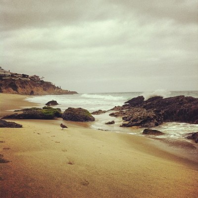 Empty beach #goodmorning #socal #beach #pacificocean  (Taken with Instagram at Laguna Beach, Ca.)