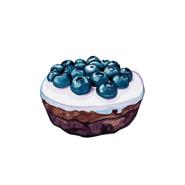 selenium-:  Chocolate brownie with blueberries by Deerly Beloved Bakery by Laura Manfre on Flickr.