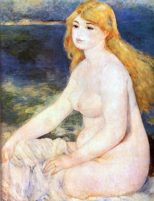 Blonde Bather by Pierre-Auguste Renoir, 1881. This is my absolute favourite painting by Renoir … wowzas.