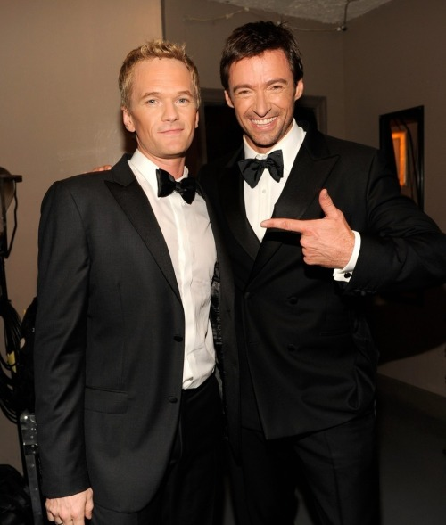 Hugh Jackman and Neil Patrick Harris at the 2012 Tony Awards