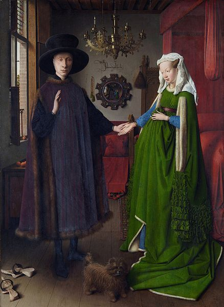 artmastered:  The Arnolfini Portrait by Jan van Eyck, 1434. The art historian Erwin Panofsky wrote a short essay that reads deep into the symbolic elements of this famous painting by the Flemish artist Jan van Eyck. If you can get hold of it then definitely give it a try, especially if you are interested in Panofsky's iconographical methods and the deeper meanings behind what the artist decides to depict in a painting.