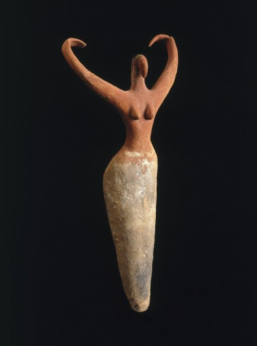 thesensualstarfish:  Medium: Terracotta, painted Reportedly From: Ma'mariya, Egypt Dates: ca. 3500-3400 B.C.E. Period: Predynastic Period, Naqada IIa Period Dimensions: 11 1/2 x 5 1/2 x 2 1/4 in.