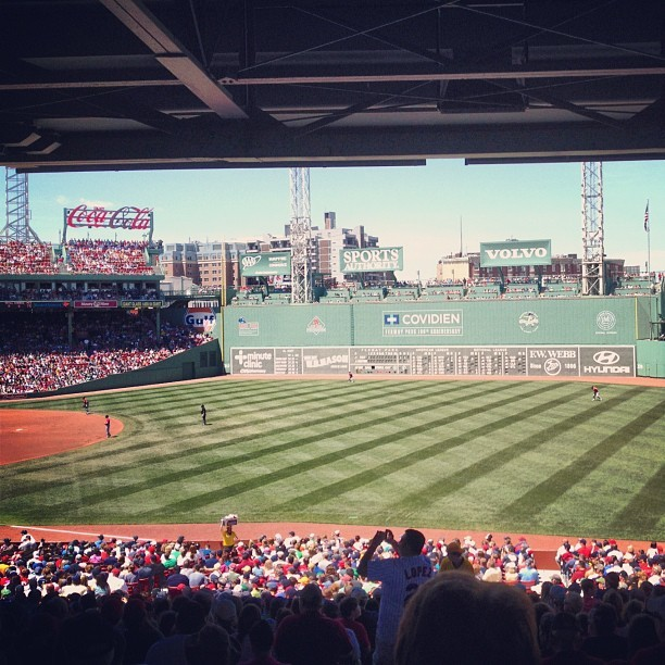 finally seeing a game at fenway (Taken with Instagram at Fenway Park)