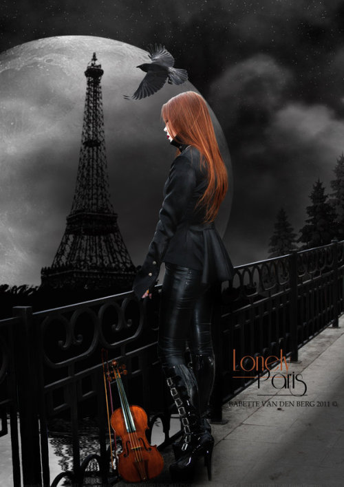 Lonely Paris by =babsartcreations