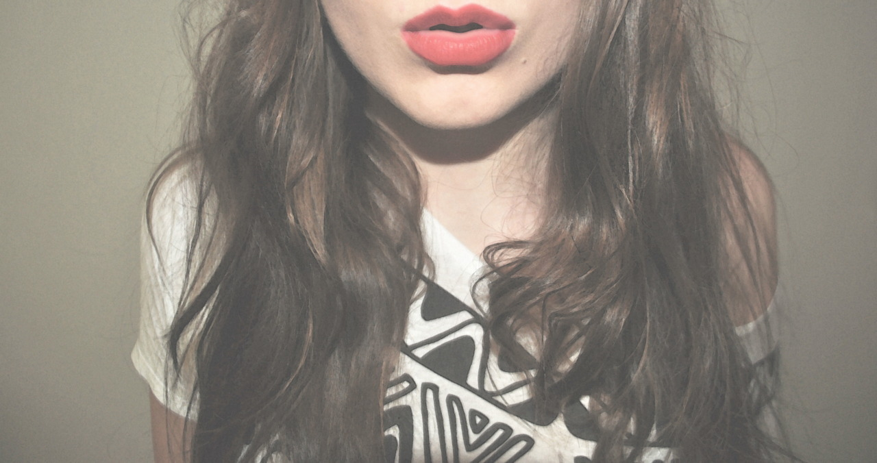 #girl #hair #red #lips