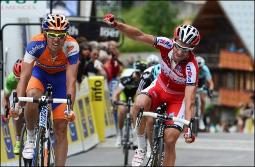 Criterium du Dauphine 2012 | Stage 7 Daniel Moreno picks up a second stage win. (via Wall Photos)