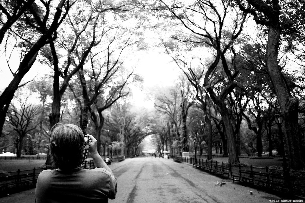NYC, New York:  May, 2012.  Tourist's-eye view.   Fuji X-Pro 1.  XF 18mm/F2 R.     Lightroom 4 » Silver Efex Pro 2.