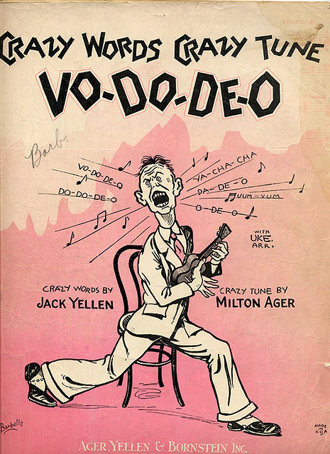 cryptofwrestling:  Vo-Do-Deo - More strange sheet music (1927)