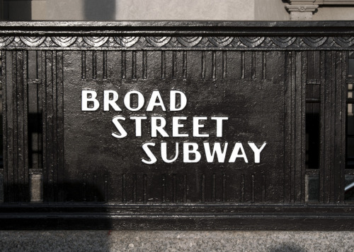 Broad st. Subway Broad st., South Philly Check out that backwards A and Y