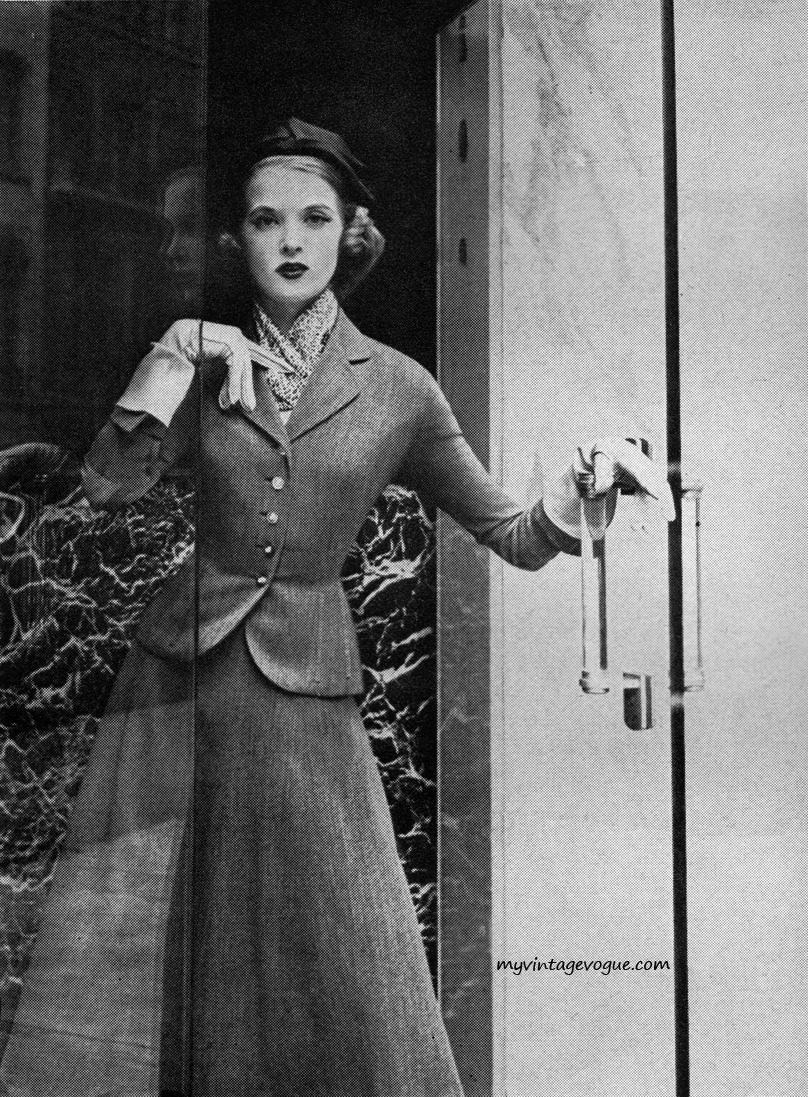 myvintagevogue:  Harper's Bazaar September 1951 - photo by Karen Radkai