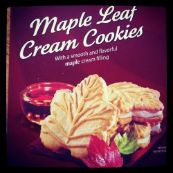 My weakness #yum #delicious #mapleleaf #maple #canadian #canada #cookies  (Taken with Instagram)