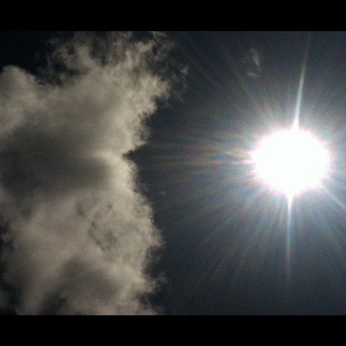 #sun #shining #clouds #sky #noedit #laspiedras #puertorico #summer #burning #hot #caribbean  (Taken with Instagram)